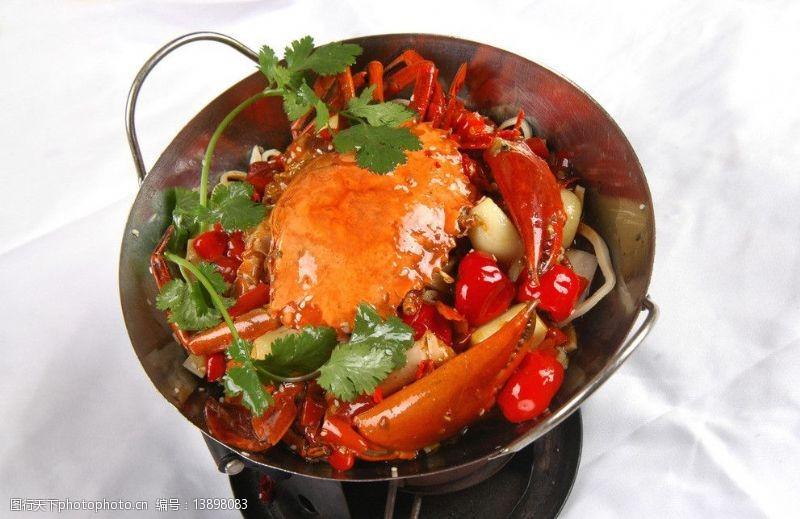 湘菜干鍋香辣蟹圖片