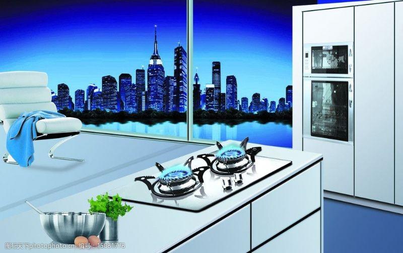 廚房燃氣灶廚房設計圖片
