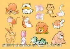 动物漫画素材