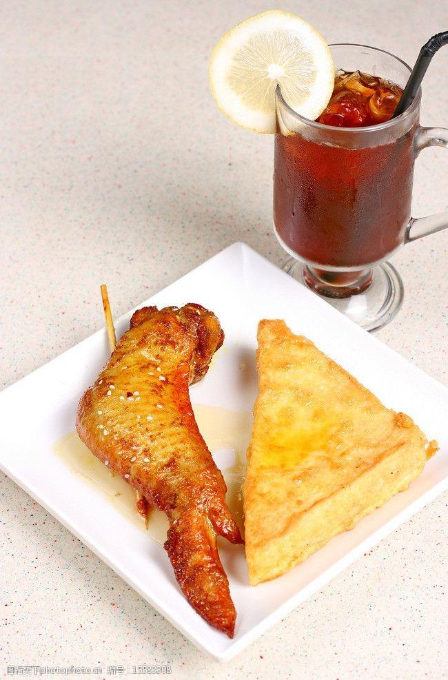 下午茶组合鸡翅三文字图片