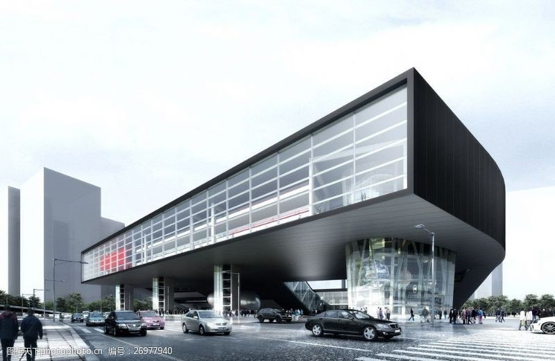 3d设计源文件商业中心建筑效果图
