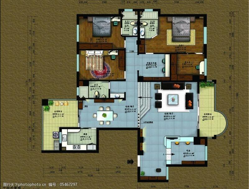 个人房屋平面图高档套房图片