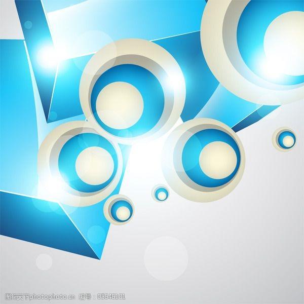 动感彩线矢量创意绚丽圆形花纹背景素材