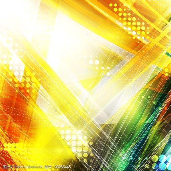 动感彩线炫彩动感创意背景矢量图