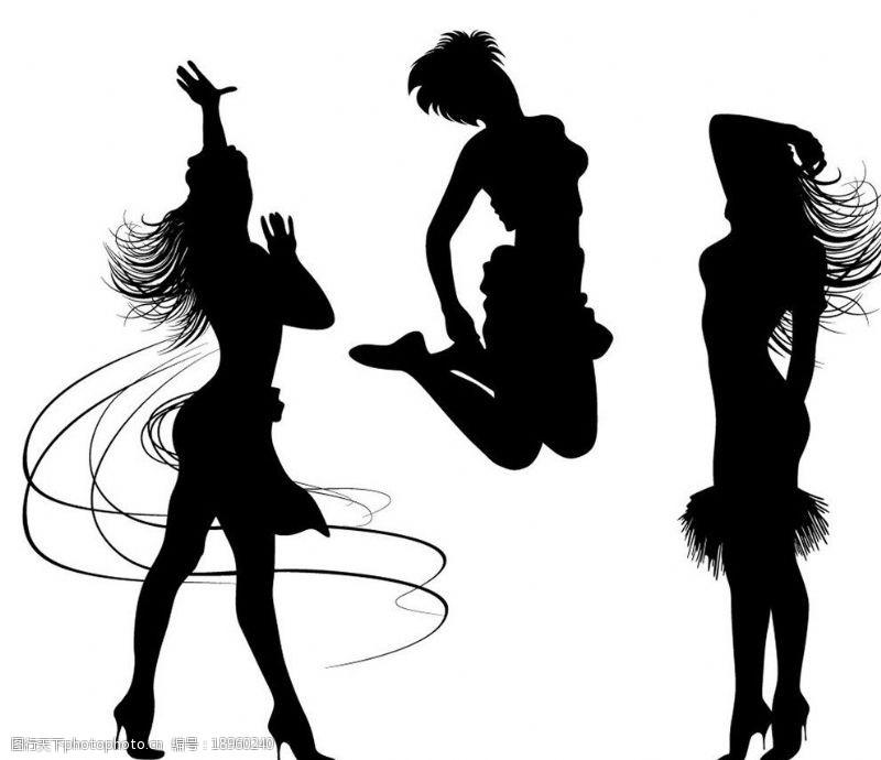 音乐美女矢量时尚女性图片