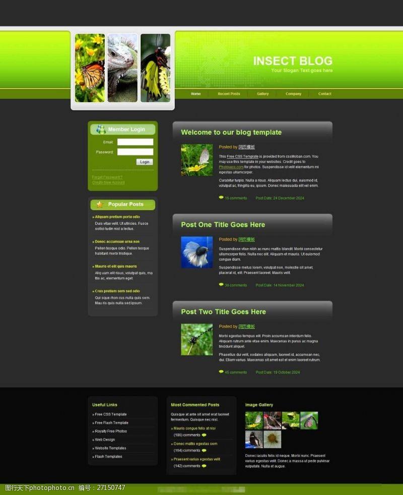 web20黑色大自然网站模板