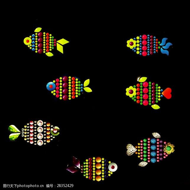 面料图库烫钻动物海洋生物鱼免费素材