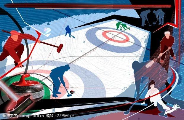 冰球比赛运动冰球