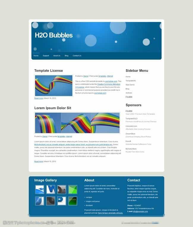 web20蓝色大气标准的模板
