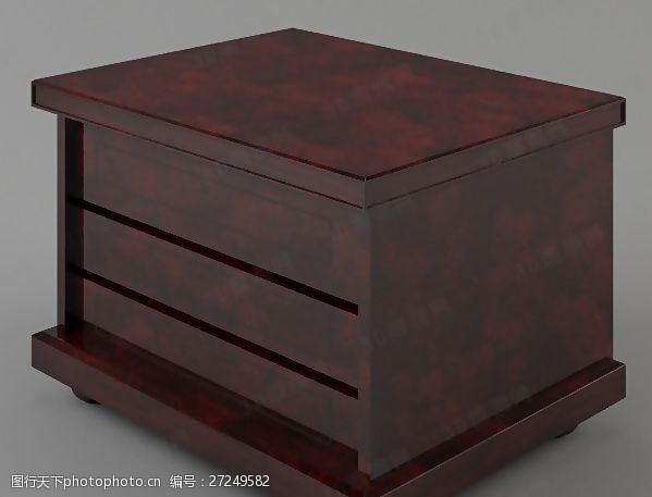 max20093D床头柜模型