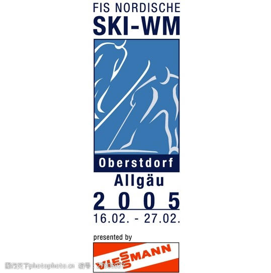FIS_Nordische_Ski_WM_Oberstdorf_Allgaulogo设计欣赏FIS_Nordische_Ski_WM_Oberstdorf_Allgau体育赛事标志下载标志设计欣赏