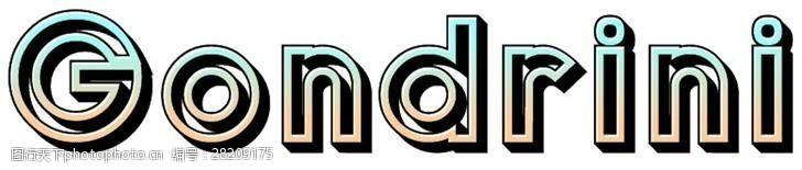opentype贡德兰字体