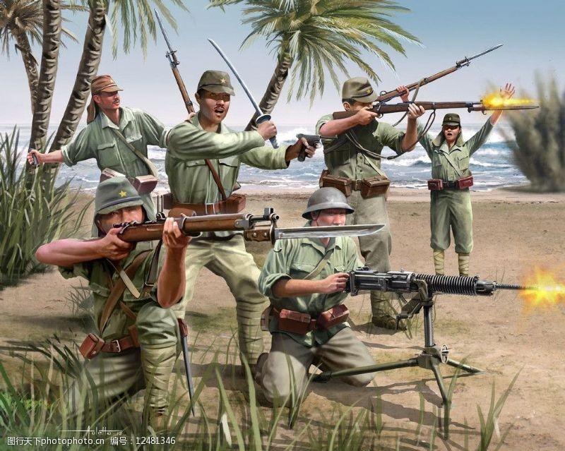 二战日本神风特攻队_太平洋战争海报设计-第3页-图行天下素材网