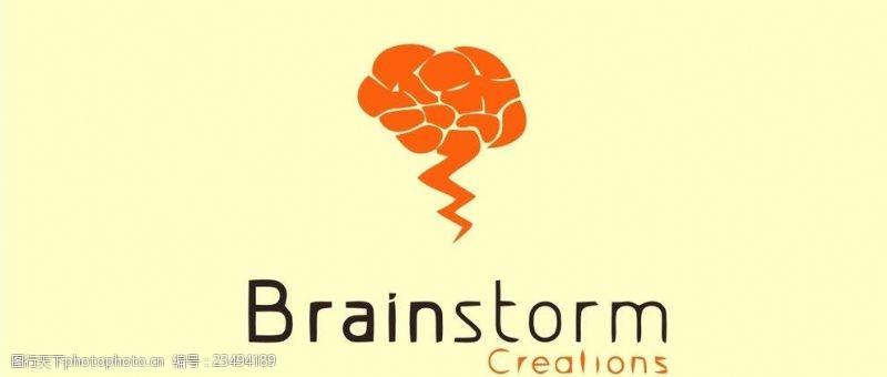 脑结构大脑logo