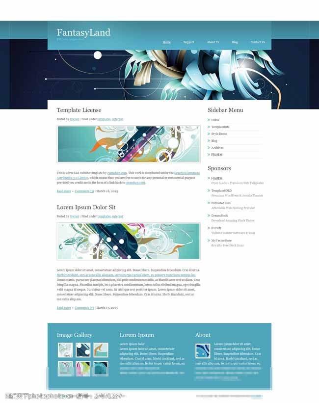 web20蓝色斜纹自适应博客模板