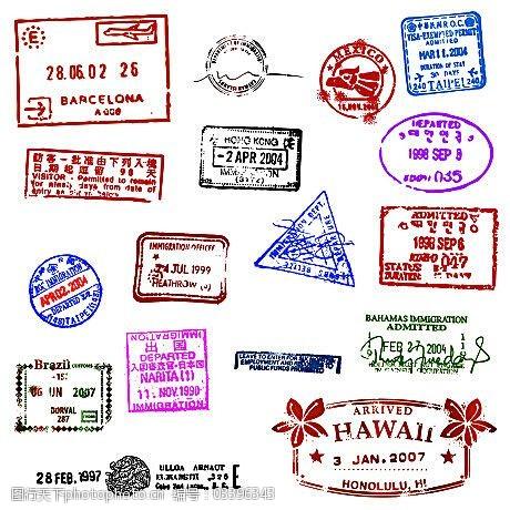 复古邮戳各种老式邮戳矢量素材