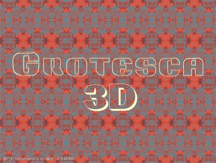 truetypegrotesca3-d字体