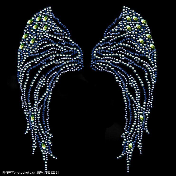 面料图库烫钻生活元素翅膀免费素材