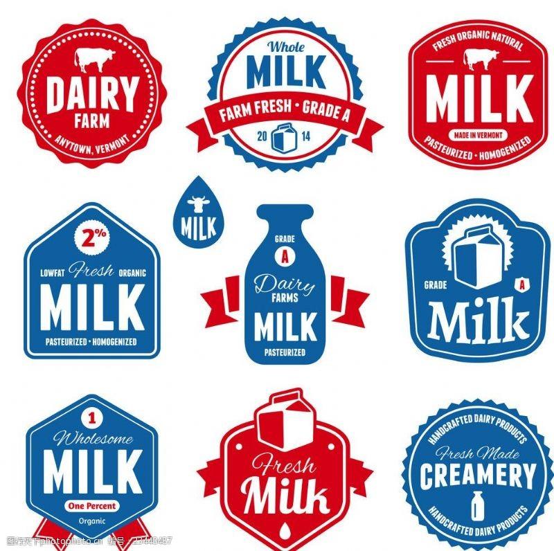 牛奶商标简笔画