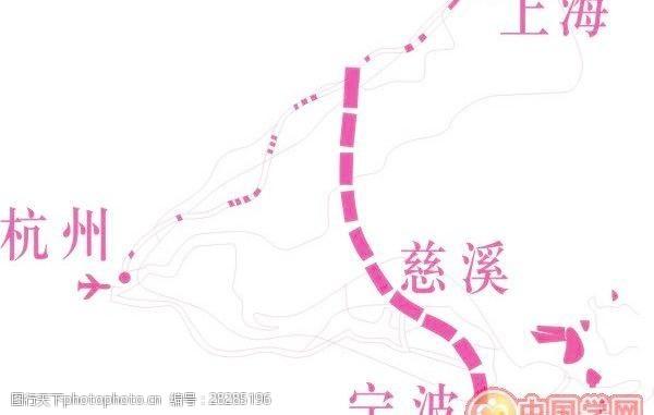 矢量传统图案长三角地图