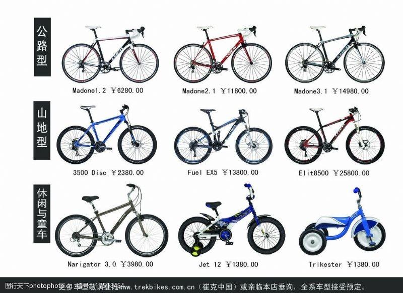 崔克自行车彩页图片