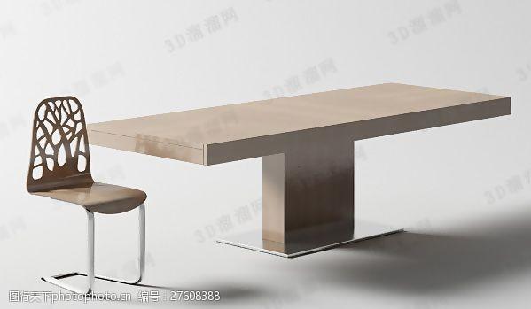 max20093D桌椅组合模型