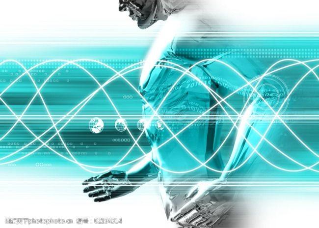跑步金属人数码游戏背景设计psd分层素材