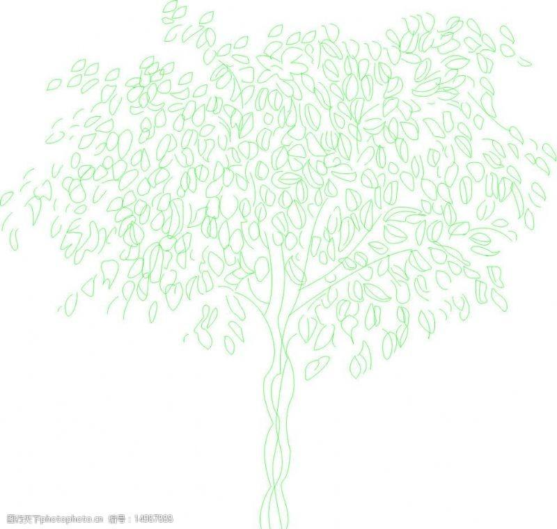 花草装饰素材矢量树素材图片