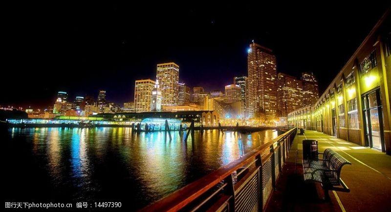 芝加哥夜景图片