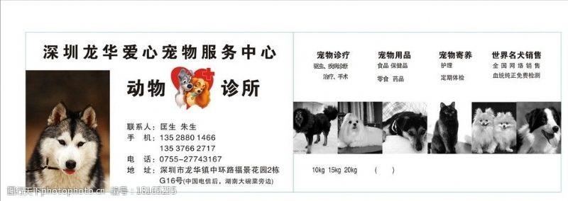 宠物护理名片宠物店名片图片